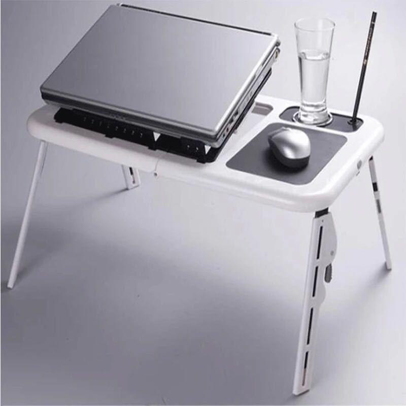 Multifonctionnel ordinateur portable pliable table Pratique table paresseuse avec radiateur ventilateurs pour ordinateur portable de bureau lit d'appoint petite table basse