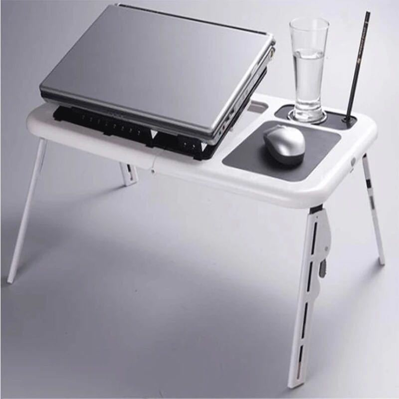 Multifunctional Foldable Laptop Table Convenient Lazy Table With Radiator Fans Notebook Bed Desk Side End Small Coffee Table