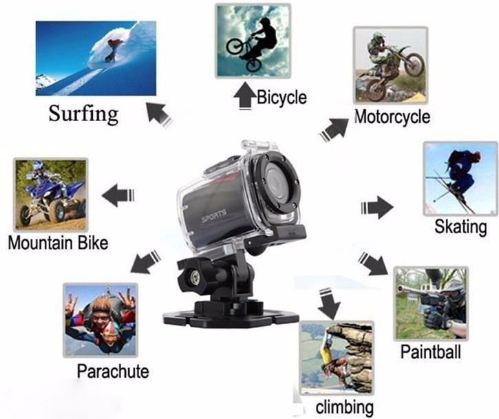 Caméra d'action sportive caméra vidéo numérique dv