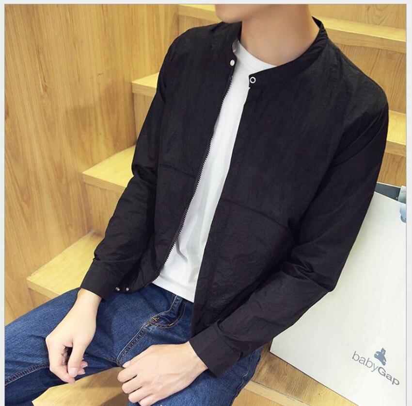 2018 new summer mens jacket thin section Korean leisure summer sun protection clothing mens jacket