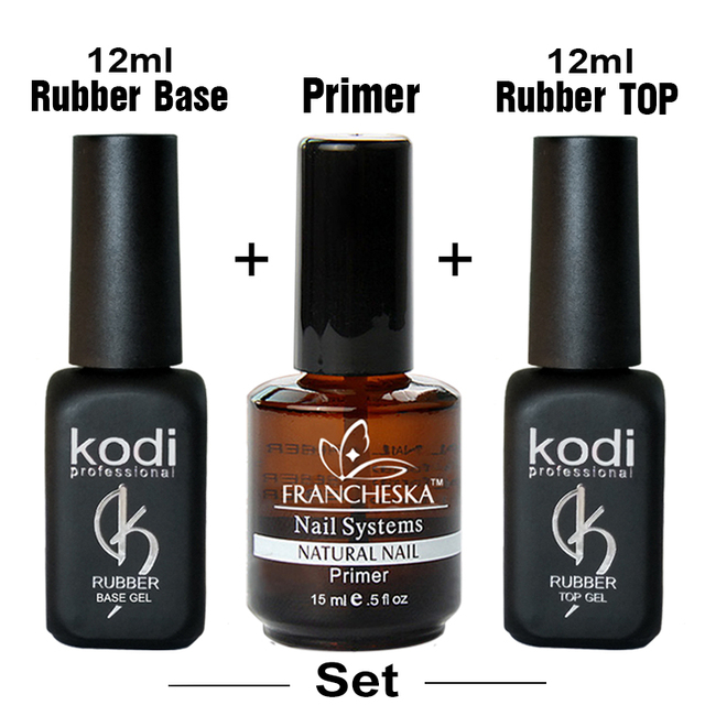 kodi nail art gel polish set nails top hybrid uv gellak primer ...