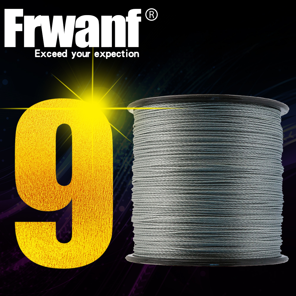 Frwanf Braided Fishing Line 300M 9 Strand Strong Smooth PE Multifilament Fishing Line 15LB 20LB 6.8KG 9.1KG 0.14MM 0.16MM Green
