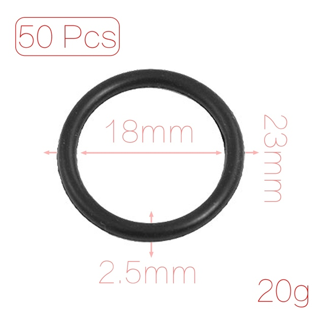 Uxcell 50 Pcs 2.5Mm 3Mm Flexible Nitrile Rubber O Rings Washers Seal ...