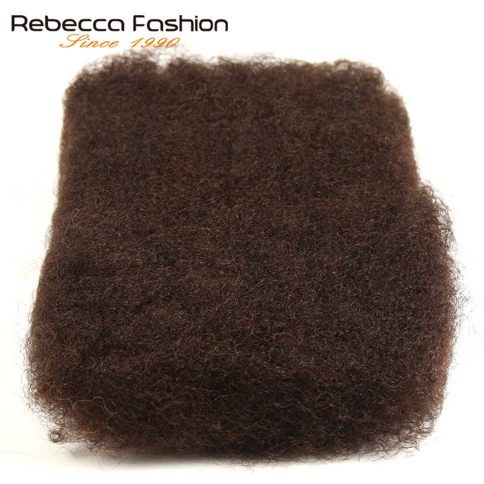 Rebecca Monogolian Remy Afro kinky Curly Bulk Human Hair For Braiding 1 Bundle 50g/pc Natural Color #2 #4 #30 #99j Braids Hair