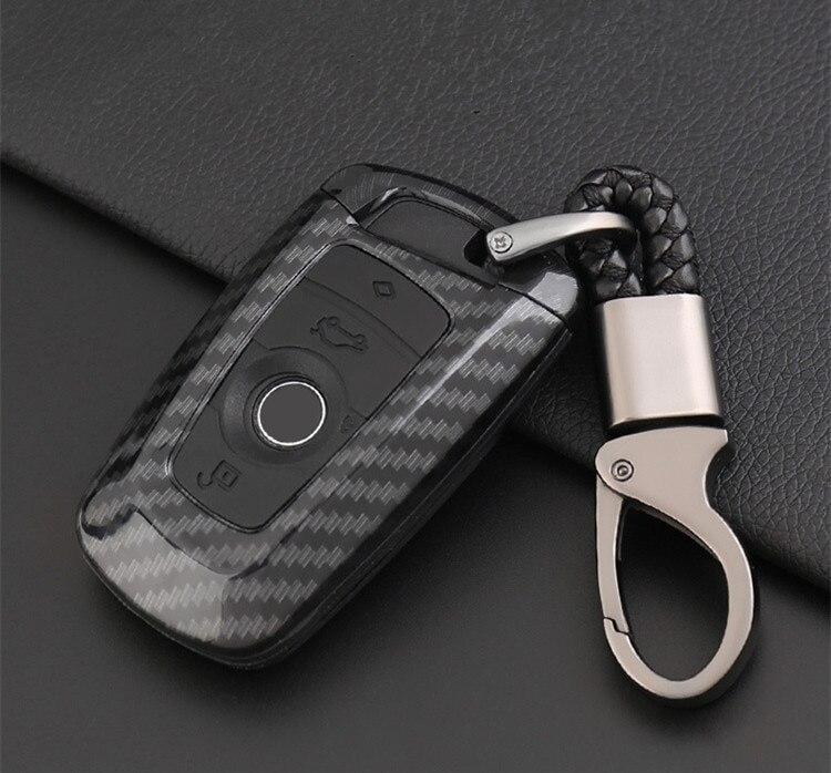 Stayling do carro Auto Tampa Do Suporte Proteja Proteção De Fibra De Carbono para BMW F05 F10 F20 F30 Z4 X1 X4 X6 M1 m3 Cadeia Chave Do Carro Chave Anel