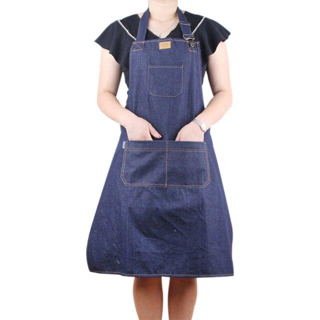 Cucina Grembiuli Da Lavoro Grembiule Da Cuoco Uomo Donna Ristorante Chef  Maniche Grembiule Cameriere Strumento di d5c03cbb7a46