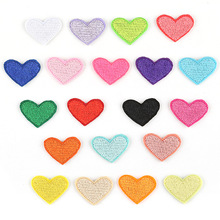 100pcs Small Heart Embroidery Patches Applique for Clothing Iron on Patch Sewing Accessories Sticker Clothes Wholesale