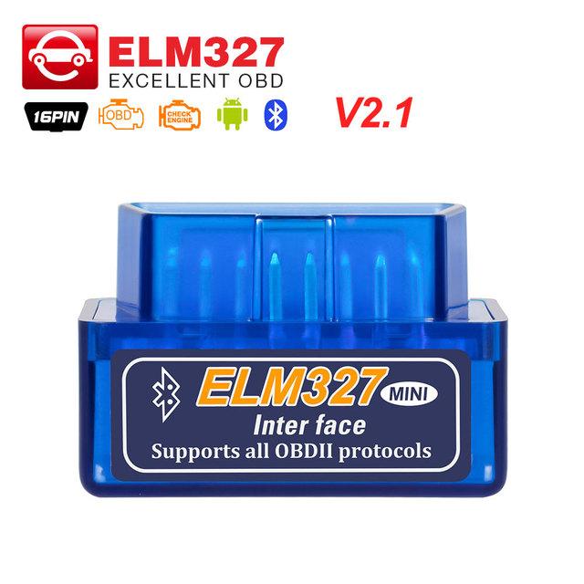 Super MINI ELM327 Bluetooth V2.1 for Android Torque OBD 2 Interface OBD2 Scanner ELM 327 Support OBDII Protocols code reader