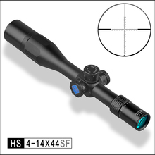 Discovery FFP Tactical Rifle Scope 30mm Tube HS 4-14x44SF Adjustments First Focal Reticle with extended sunshade