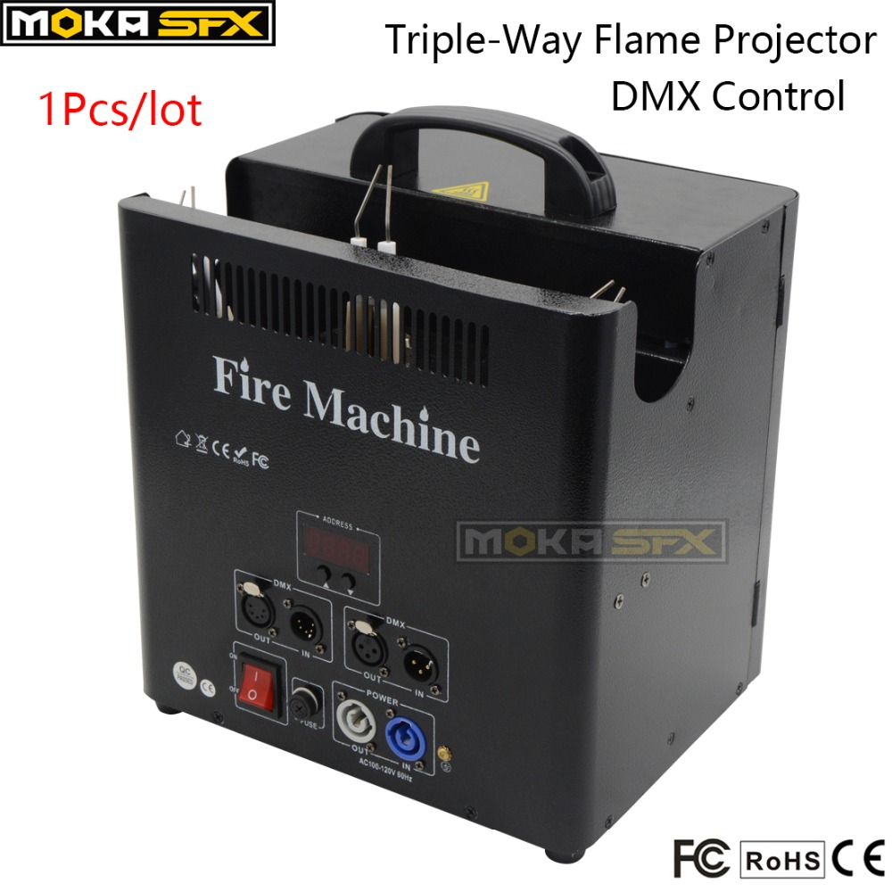 1Pcs 3 Head 5 Channels Fire Machine 180W DMX512 Flame Projector Machine Professiona Stage Special Effects