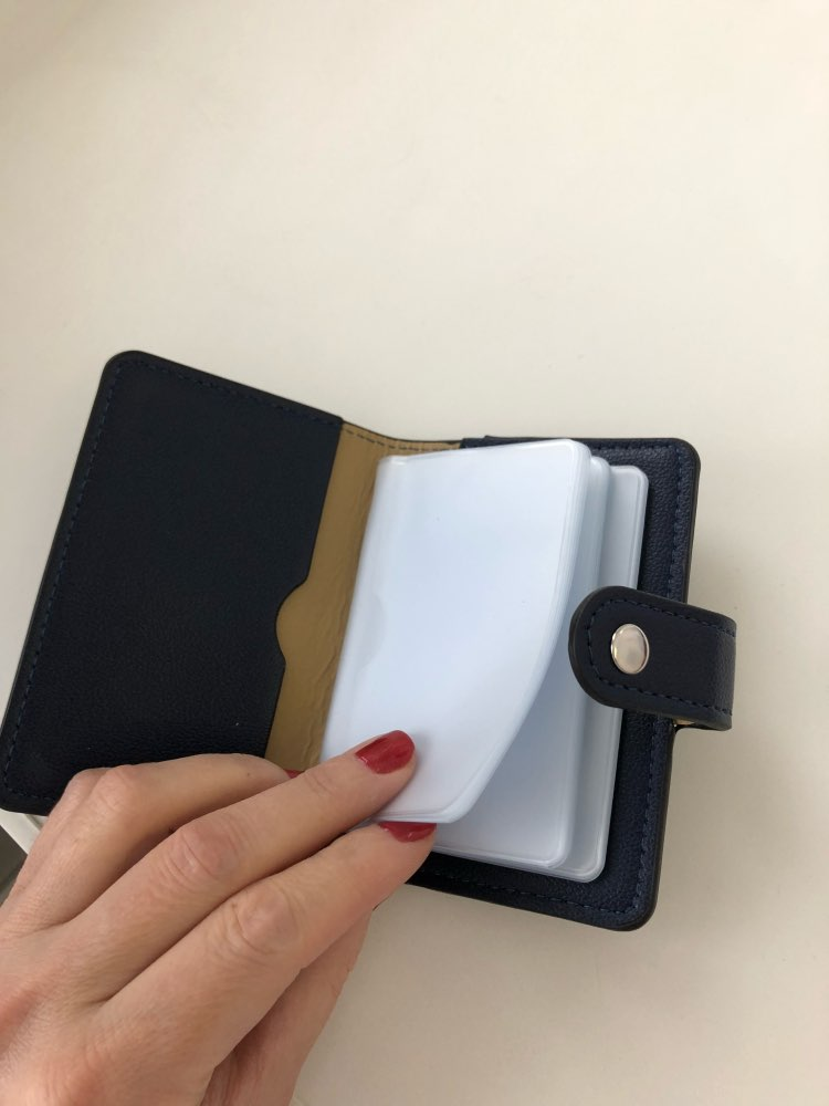 24 Card Slot pu Leather Women Men ID Card Holders Fashion Business Credit Card Wallet Cardholder Case Slim Wallet for Cards 2018 photo review