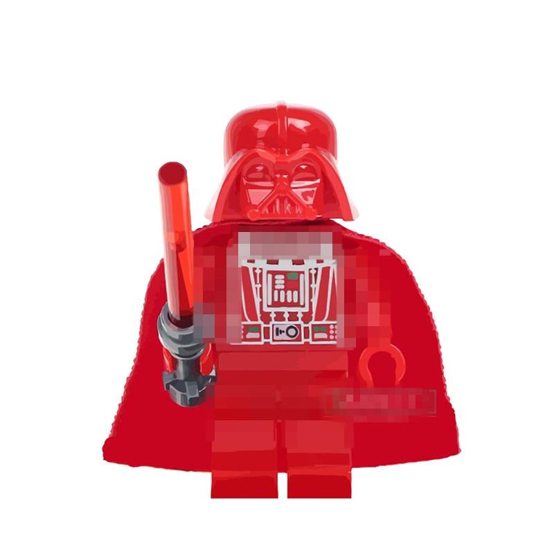 1PCS 4.5CM Building Blocks Red Black Warrior Super Heroes Star Wars Bricks Kids DIY Toys Hobbie Figures halloween gift & WM298