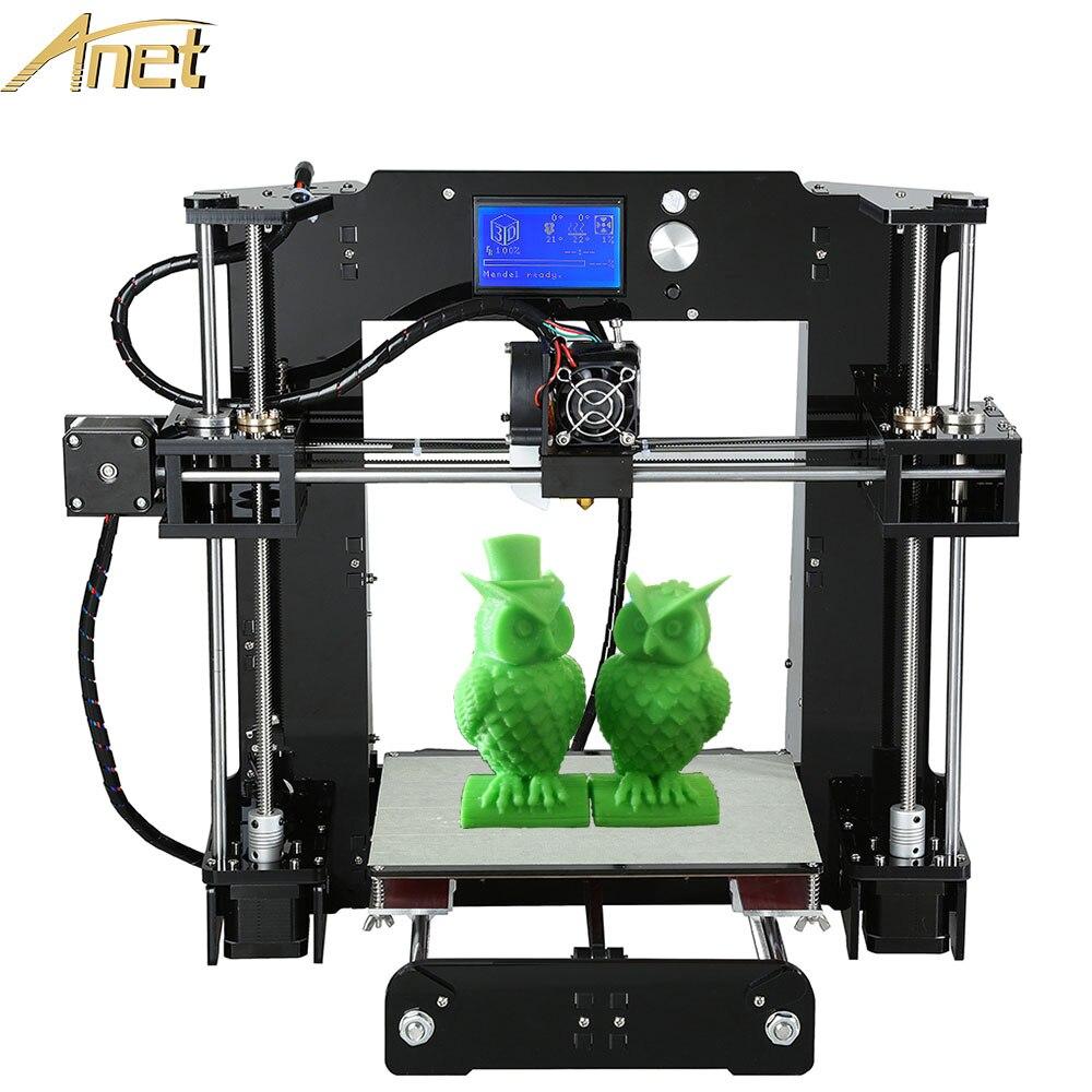 Anet A8 A6 A2 3D imprimantes haute précision i3 bricolage 3D Machine d'impression kit de bricolage auto-assemblage 2004/12864 LCD écran 3D Kits d'imprimante