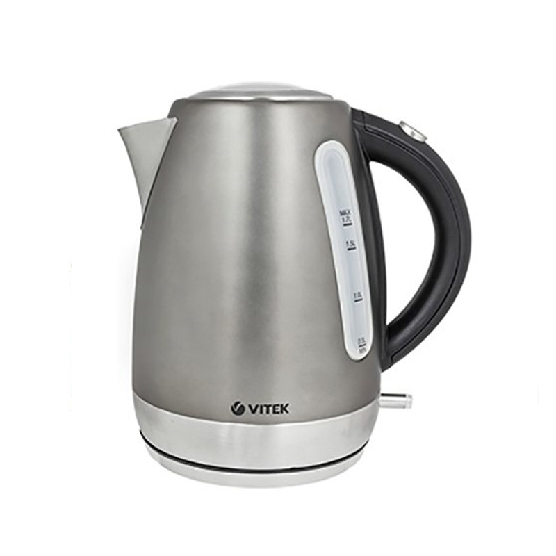 Electric kettle Vitek VT-7025 (ST) (Power 2200 W, volume 1.7 liters, stainless steel body, 360 ° rotation, auto power off) electric water kettle haier hek 182 auto power off protection wired handheld instant heating electric kettle