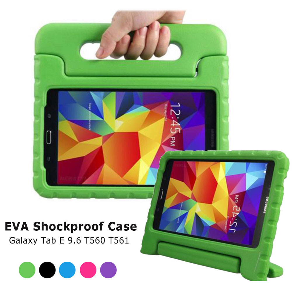 Shockproof Case For Samsung Galaxy Tab E 9.6 T560 T561 T567 Children Kids Handle Stand Cover Safe EVA Foam Tablet Protect CaseShockproof Case For Samsung Galaxy Tab E 9.6 T560 T561 T567 Children Kids Handle Stand Cover Safe EVA Foam Tablet Protect Case