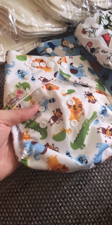 Baby Washable One Size Cloth Nappy Reusable Pocket Diaper Inserts Available Suit 0-3 years 3-15kg One Size Cover Diapers Nappies