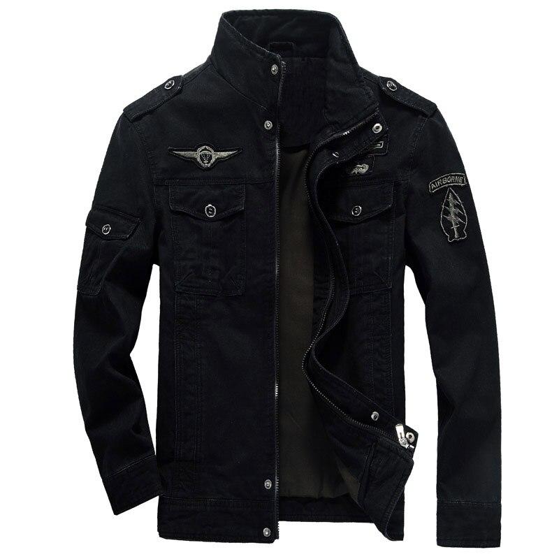 Spring Autumn Military Army Men Jacket Cotton Pilot Bomber Tactical Mens Jacket Coat Plus Size M-6XL