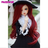 MUZIWIG Bjd Wig 1/3 1/4 1/6 High temperature Fiber Synthetic Girl Long Hair Doll Wig in Beauty and Health with Bangs