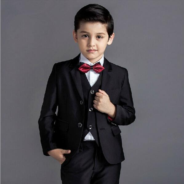 fashion baby boys kids blazers boy suit for weddings prom formal black/navy blue dress wedding boy suits 5pcs 2017new arrival цены онлайн
