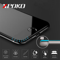 XPOKO 4D 가장자리 강화 유리 아이폰 7 8 플러스 6 6 초 전체 커버 라운드 보호 화면 보호기 아이폰 6 7 8 플러스 X 유리