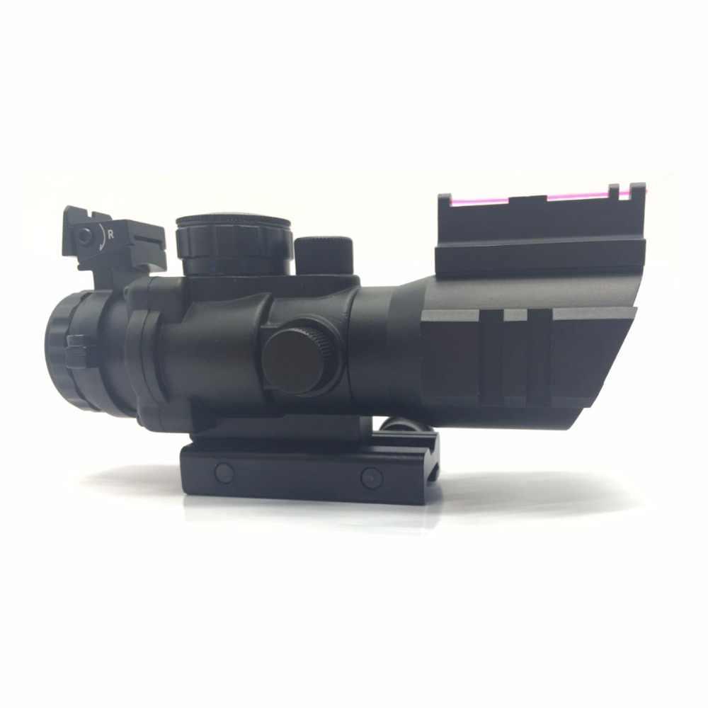 4x32 Acog Riflescope 20mm Dovetail Reflex Optics Scope Tactical Sight For Hunting Gun Rifle Airsoft Sniper Magnifier