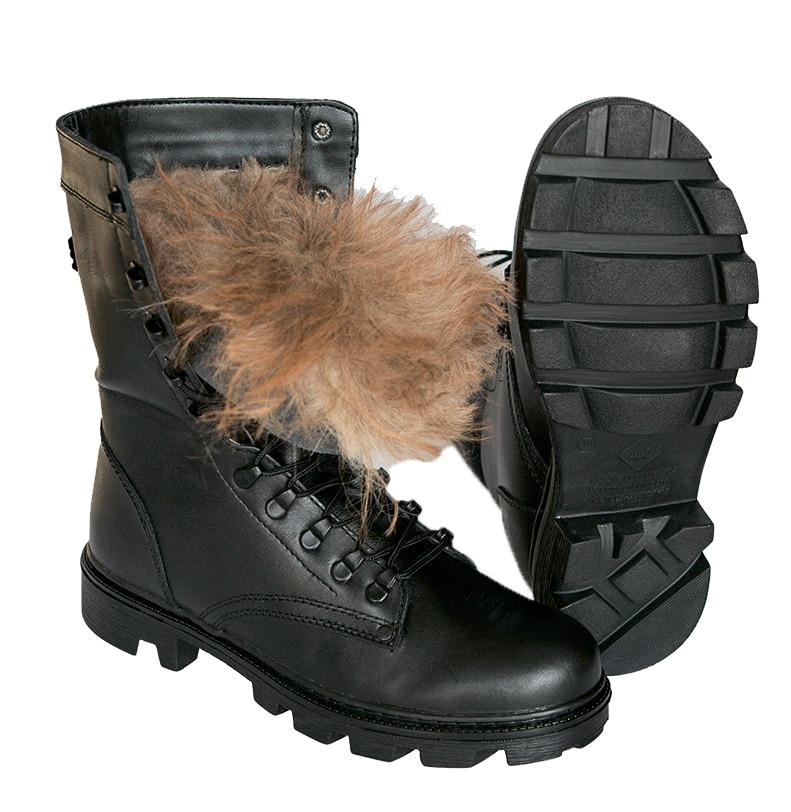DOF deserto tático botas de inverno com pele macia de couro caminhadas sapatos de escalada ao ar livre do exército botas moda 5019/11 ZA
