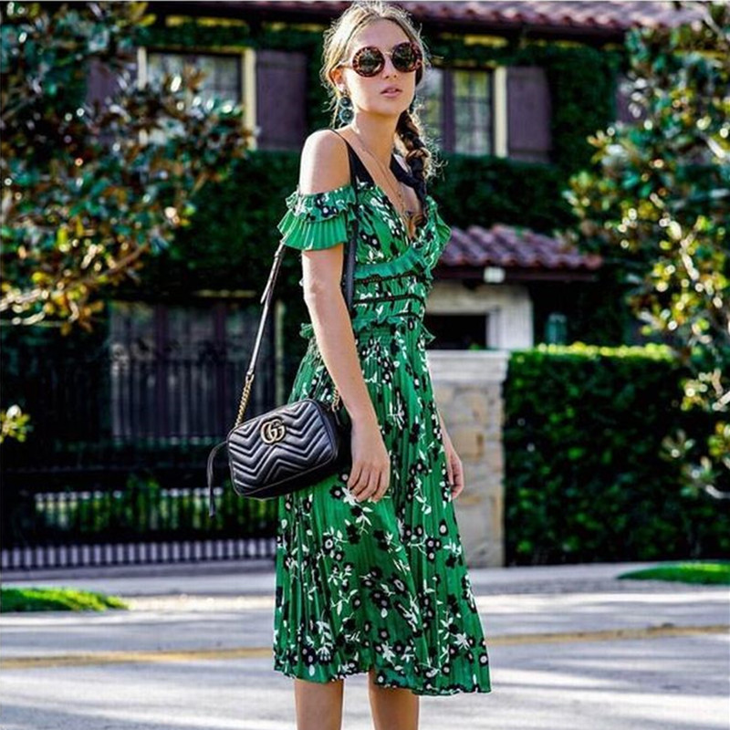 High End Custom Self Portrait Dress 2018 Fashion Designer Runway Summer Women s Spaghetti Strap Sexy