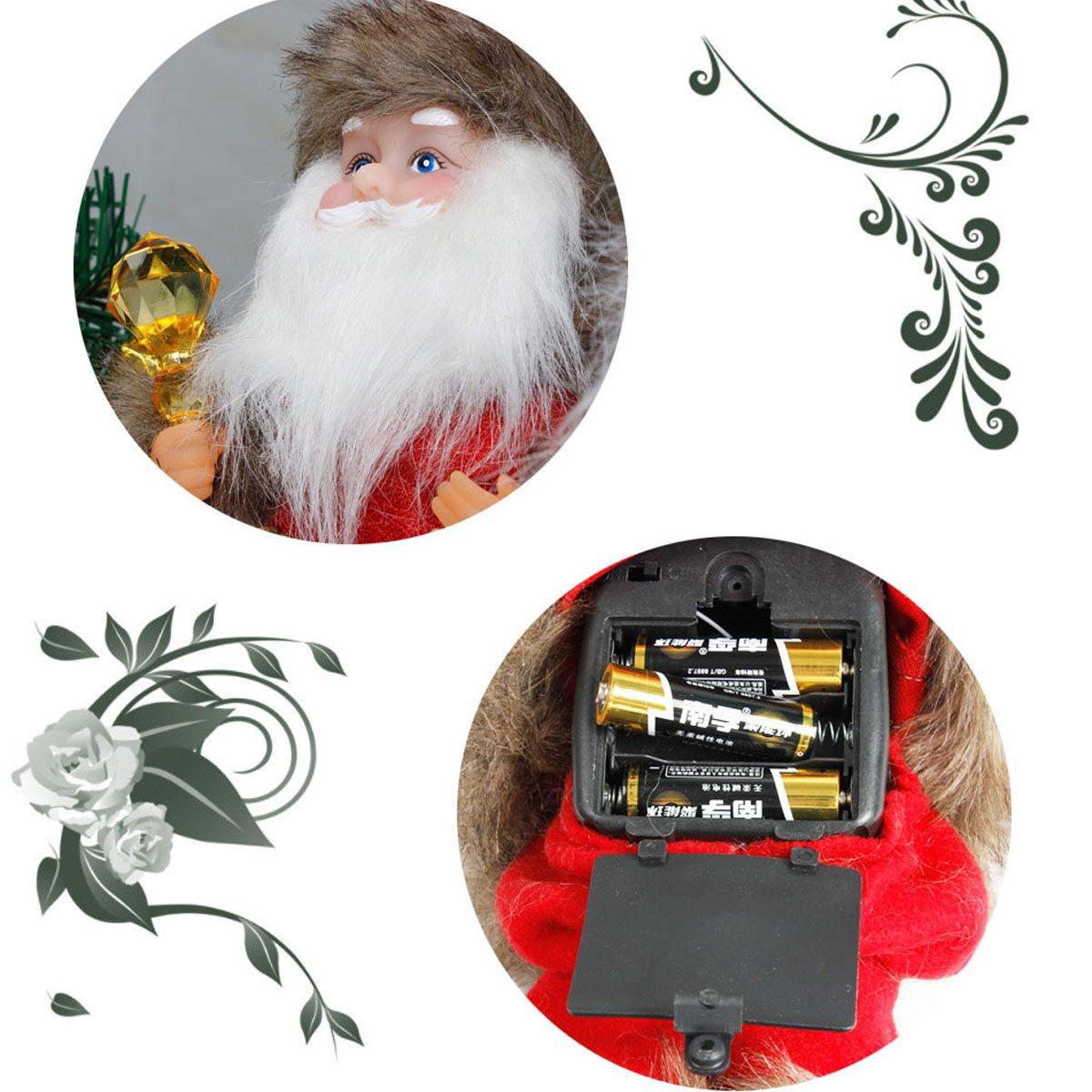 Lummy Electric Santa Claus Toy Ornaments Dancing Singing Dollsnovelty Ny Holiday Gift Tree Pendant Dropornaments Electric Santa Claus Toy Ornaments Dancing Singing