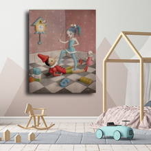 Art Canvas Blue-Dress Mark Ryden Poster Oil-Painting Bedroom-Decoration Wall-Picture