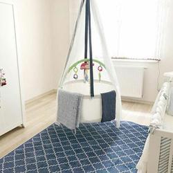 Muskietennetten mand wieg schommel hangmat baby, peuter infant voor indoor of outdoor Svava Mand Schommel Wieg Wieg Wieg