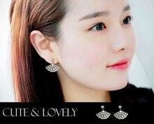 2017 New Earrings 925 silver Crystal from Swarovski Wholesale Charm Women Fine Jewelry Woman Earrings