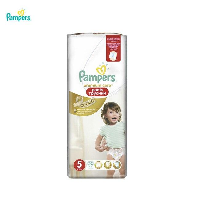 Трусики Pampers Premium Care Pants 12-18 кг, размер 5, 40 шт.