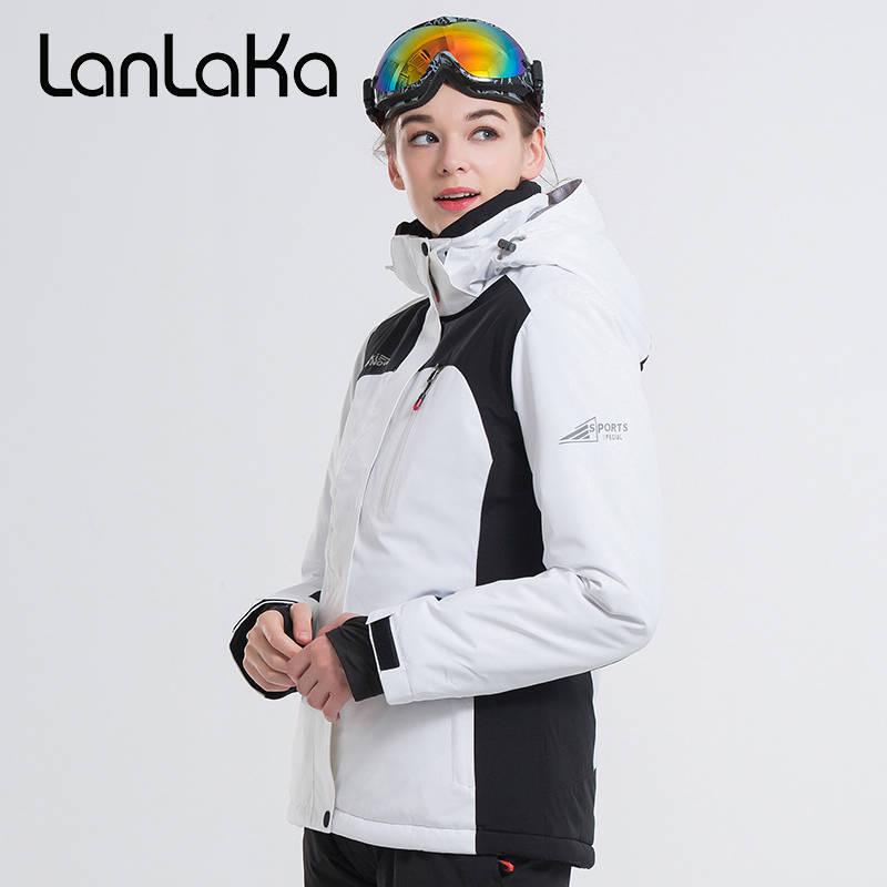 2018 LANLAKA Brand Women Ski Jacket Snowboard Jacket Super Warm Hiking Jacket Windproof Waterproof Clothing Winter Female Jacket