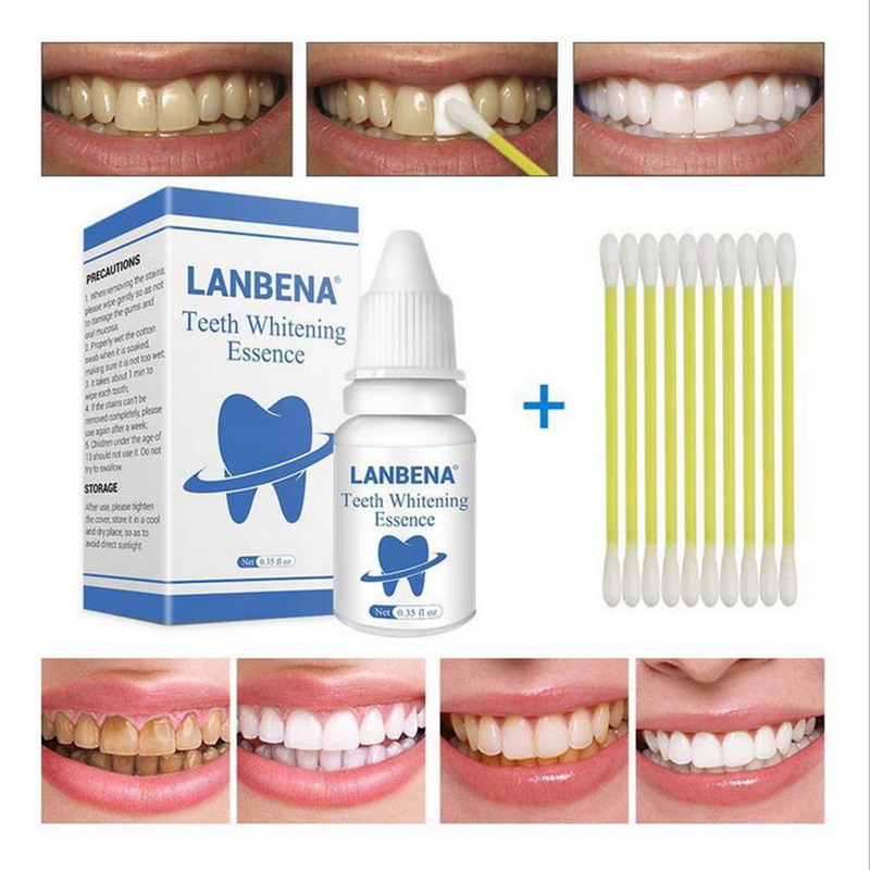 LANBENA Teeth Whitening Essence Oral Hygiene Cleaning Serum Powder Eliminates Plaque Teeth Teeth Whitening Tools Paste(China)