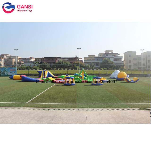 Factory price giant adult cheap inflatable water park kids aqua park sport games equipment portable water park for sale