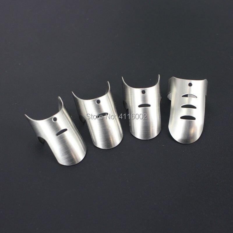 50Set 4pcs/set Adjustable Stainless Steel Finger Hand Guard Finger Protector Knife Slice Chop Safe Slice Cooking Tool