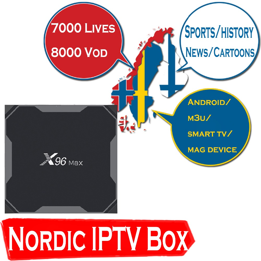 HD World iptv X96 MAX Android 8 1 TV Box with 1 year 9000 Lives 9000