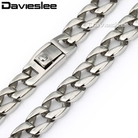 11mm 316L Stainless Steel Curb Necklace Chain Top Quality Mens Curb Personalized Wholesale Gift Jewelry Jewellery LHN02