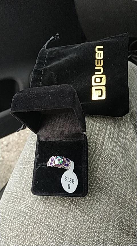 Rainbow Topaz Sapphire Ring photo review