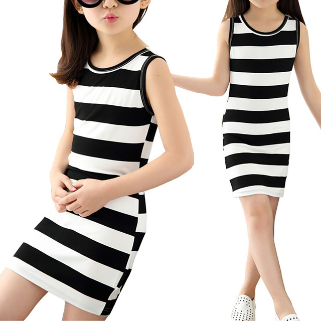 Stripe Casual Dresses for Teens