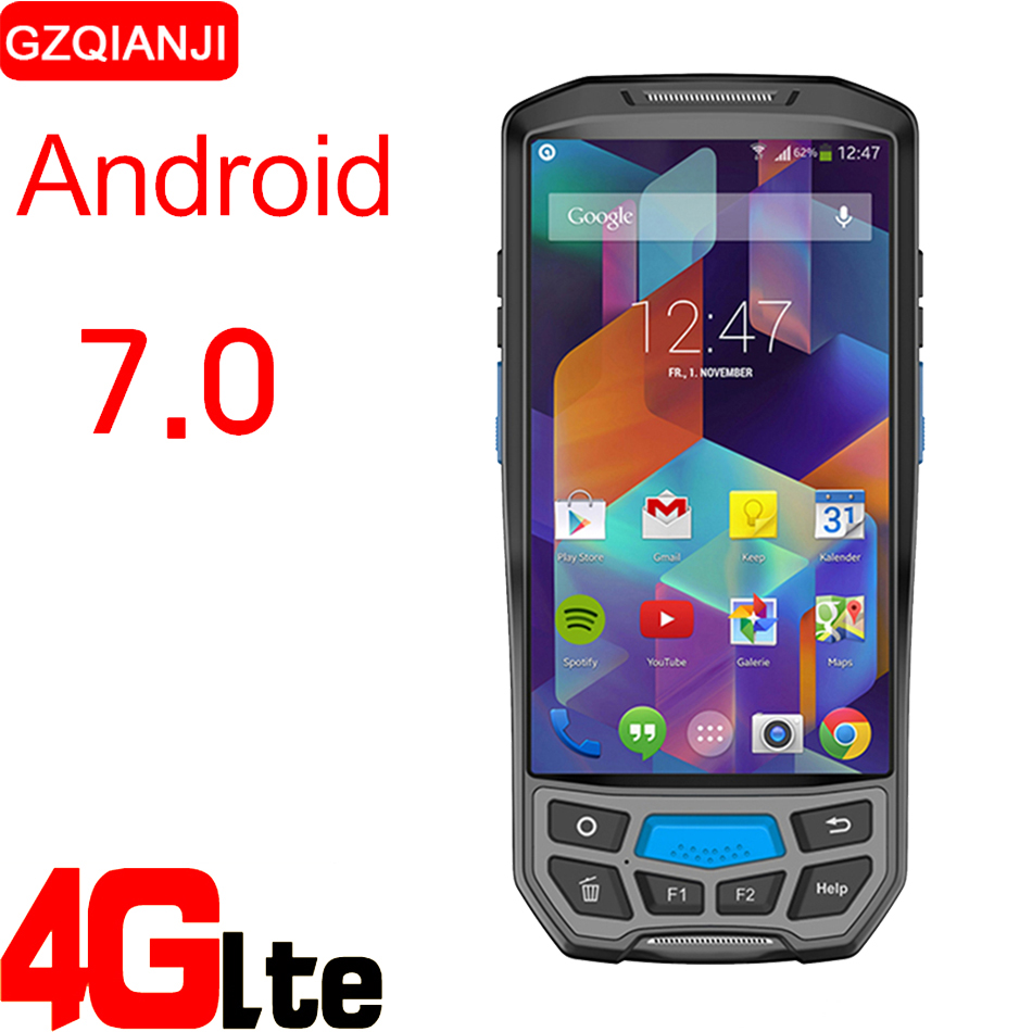 Android 7.0 Terminal portable PDA sans fil WIFI Bluetooth lecteur de codes à barres 1D 2D QR lecteur de codes à barres Bluetooth collecteur de données PDA