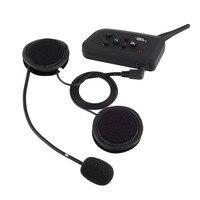 1 Pc Bluetooth Motorcycle Helmet Interphone Intercom Headset V4 1000M 4 Riders