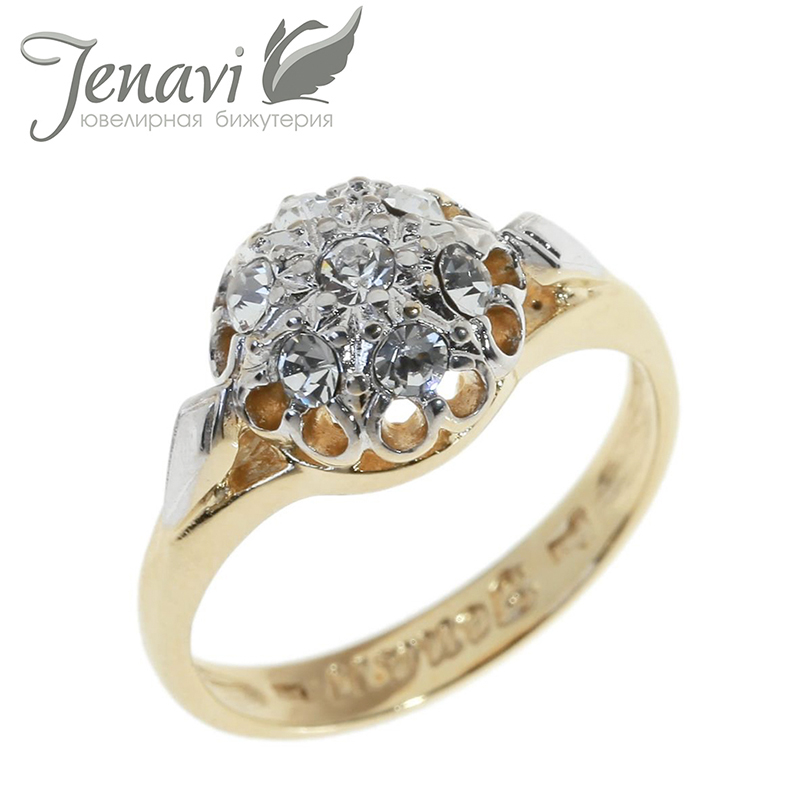 Jenavi crystal from swarovski ring silver plated finger for Russian wedding rings for sale