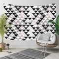 Else สีเทาสีขาวสีชมพูรูปสามเหลี่ยมเรขาคณิต Nordec 3D พิมพ์ตกแต่งผ้าคลุมไหล่โบฮีเมียนแขวนผนัง Landscape ...