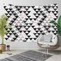 Else Gray White Pink Triangles Geometric Nordec 3D Print Decorative Hippi Bohemian Wall Hanging Landscape Tapestry Wall Art