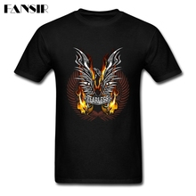 Premium T-shirt Men Man's Custom Cotton Short Sleeve Chrome Eagle Motorcycle Teenage Brand Clothing Men T Shirts