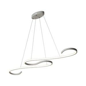 Image 4 - S Shape Black or White Finish Modern led chandeliers for Dining Room Kitchen Room Hanging Pendant chandelier fixtures 110V 220V