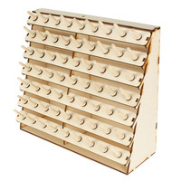 Convenient 63 Spools Wood Sewing Thread Rack Stand Organizer Craft Embroidery Storage Holder DIY Sewing Accessories