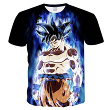 Verano 2018 Dragon Ball Z camiseta hombres verano vestido 3D estampado Supeaiyan Goku negro Dragon Ball camiseta S(China)
