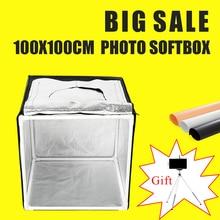 100x100CM Led Light Tent Light BOX Photo Softbox Studio Portable Photography Studio Shooting Lightbox Kit With Free Gift цена 2017